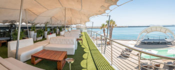 VIP deck, situated above the restaurant with spectacular views of the beach, main stage and Atlantic ocean